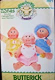 Butterick Pattern 3921 Cabbage Patch Kids Preemies Layette Clothes: Romper Hat Pinafore