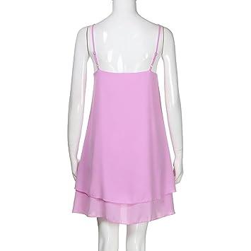 Suela Verano Harness Solid Mini Vestido Mujer by Ba Zha Hei, Nuevo Estilo Vestidos Verano Mujer para Interior al Aire Libre Moda y Cómodo Blusa Camisetas ...