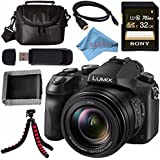 Panasonic Lumix DMC-FZ2500 Digital Camera + Sony 32GB SDHC Card + Carrying Case + Flexible Tripod + Micro HDMI Cable + Memory Card Wallet + Card Reader + Fibercloth Bundle