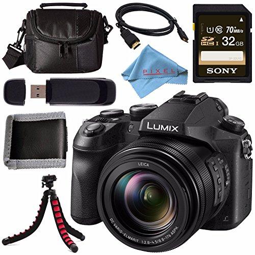 Panasonic Lumix DMC-FZ2500 Digital Camera + Sony 32GB SDHC Card + Carrying Case + Flexible Tripod + Micro HDMI Cable + Memory Card Wallet + Card Reader + Fibercloth Bundle - Panasonic Sdhc Class 6