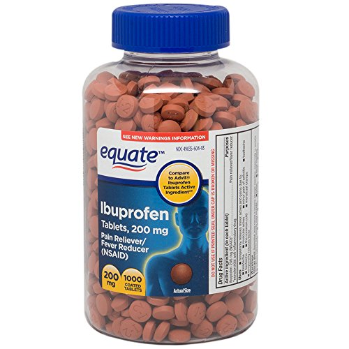 Equate Ibuprofen Pain Reliever/fever Reducer (Nsaid) Tablets, 200mg, 1000 Count