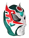 ULTIMO GUERRERO Adult Lucha Libre Wrestling Mask (pro-fit) - Green/White/Red