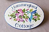 Personalized House Name Sign, Cottage Sign with Hummingbird - DipntoAdArte