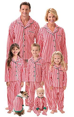 PajamaGram Candy Cane Fleece Matching Family Pajamas