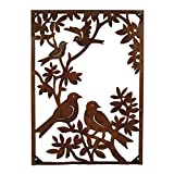 Foreside FWAD00662 Metal Birds On A Tree Vertical Wall, Gold For Sale