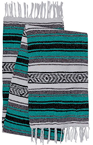 El Paso Designs Genuine Mexican Falsa Blanket - Yoga Studio Blanket, Colorful, Soft Woven Serape Imported from Mexico (Afghan Blanket)