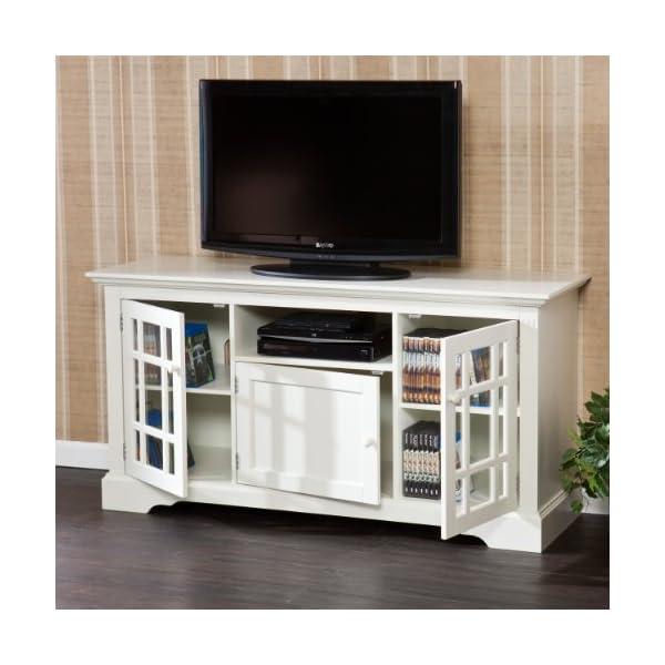 SEI Furniture TV Media Stand, Size 61, Off-White
