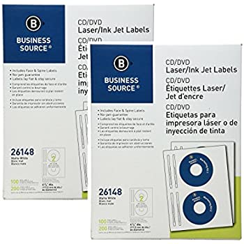 Amazon.com : 4.5 Inch CD/DVD Labels - Pack of 500 CD/DVD ...