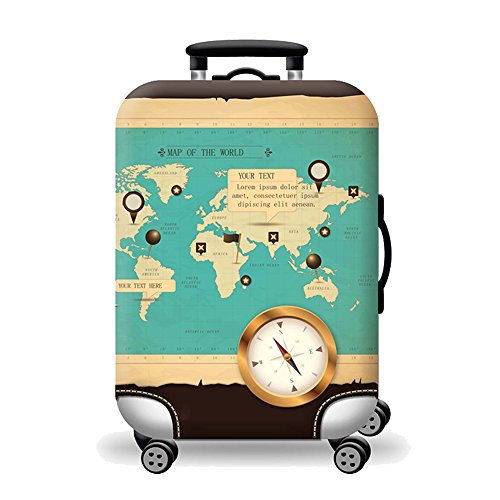 Artone world map washable spandex travel luggage protector baggage artone world map washable spandex travel luggage protector baggage suitcase cover fit 26 28 inch luggage blue buy online in oman gumiabroncs Image collections