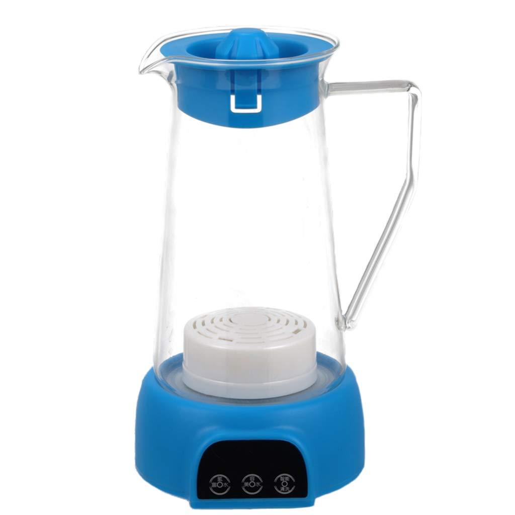 【正規販売店】 電解水素水マグ B07GJL8RXY、健康スマートポータブルホームマイナスイオン品質充電ガラスギフトケトルアルカリ酸素ジェネレータ1.3L水素マシン,Blue Blue Blue B07GJL8RXY, ヴィレコ:ffbcbb02 --- a0267596.xsph.ru