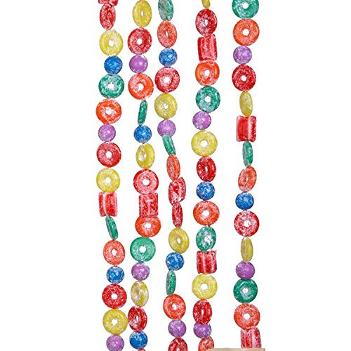Artificial Candy - Kurt Adler H1737 9-Foot Plastic Glittered Life Saver, Ball, and Candy Garland