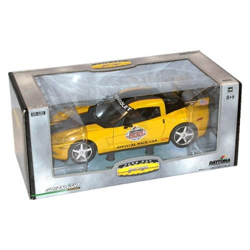 Daytona 500 Pace Car (2005 Daytona 500 Yellow/Black Coupe Corvette 1/24 Pace Car Pace Car Garage Series By Greenlight Collectibles 104)