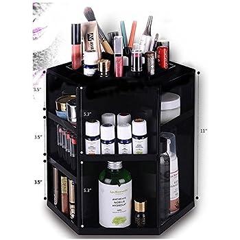HiCollie Makeup/Cosmetic Organizer 360 Rotating /Revolving Cosmetic Storage  Tabletop Big Capacity Carousel New