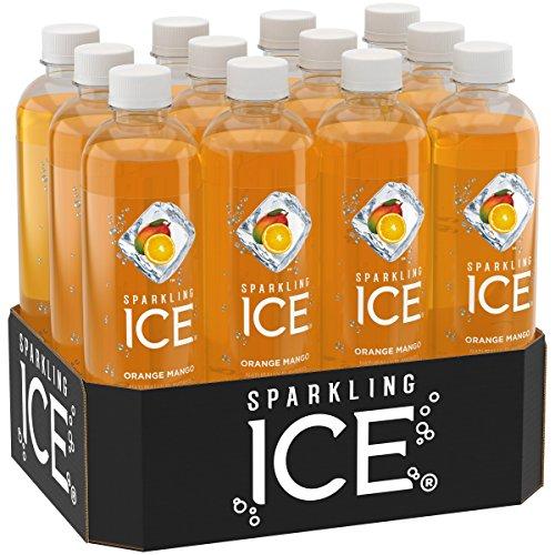 Orange Beverage - Sparkling Ice Orange Mango, 17 Ounce Bottles (Pack of 12)