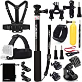 Luxebell Accessories Kit for Gopro Hero 5, Session 5, Hero 4/3+/3/2 Sj4000 Sj5000 Sj6000 AKASO EK5000 EK7000 DBPOWER 12MP/EX5000 14MP (10 Items)