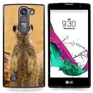 "Qstar Arte & diseño plástico duro Fundas Cover Cubre Hard Case Cover para LG G4c Curve H522Y ( G4 MINI , NOT FOR LG G4 ) (Meercat linda"")"
