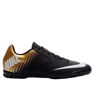 Nike Men's Bombax Turf Soccer Shoes-Black-Gold (9)   Fashion Sneakers