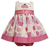 Bonnie Baby Baby Girls' Cupcake Applique Birthday Dress