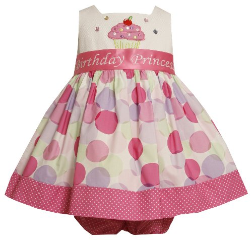 Bonnie Baby Baby Girls' Cupcake Applique Birthday Dress