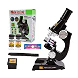 YBB Kids Microscopes Beginner Microscopes With LED,100X/200X/450X Magnification,Includes 5-Piece Accessory Set and Box