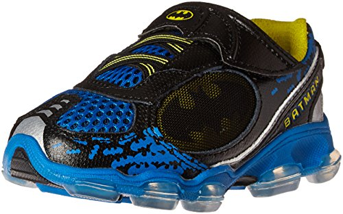 Batman Light Up Shoes (Stride Rite Batman Lighted Sneaker (Toddler), Navy/Yellow, 8 M US Toddler)