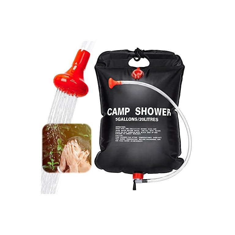 Sunshine smile Campingdusche Solardusche Tasche,20L Camping Dusche Set,Solardusche Camping,Tragbare Solar Wassersack,für…