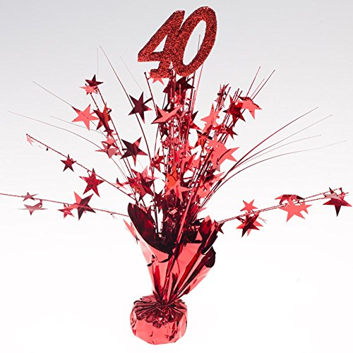 Anniversary Party Centerpieces - Party Deco Ruby Red 40