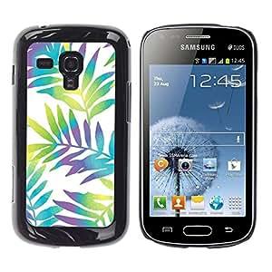 "Pulsar Snap-on Series Teléfono Carcasa Funda Case Caso para Samsung Galaxy S Duos S7562 , Branch blancos vibrantes hojas"""