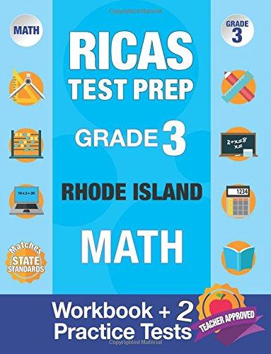 Book Ricas Test Prep Grade 3 Rhode Island Math: Workbook And 2 Ricas