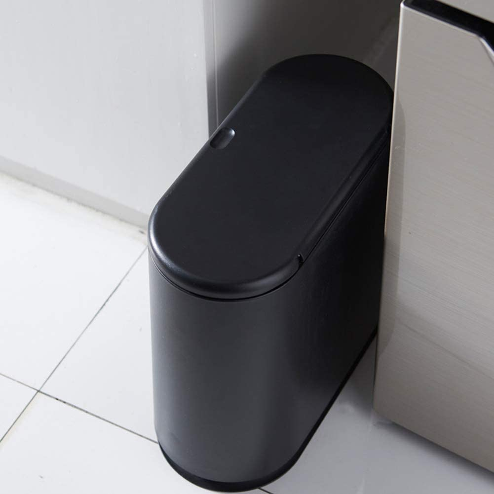 Twin Compartments Office Indoor//Outdoor Use Garden Rubbish Disposal Dual Dustbin,Beige with Push-top Automatic Lids CHENG Double Waste Recycling Bin Premium Plastic Indoor Trash Can
