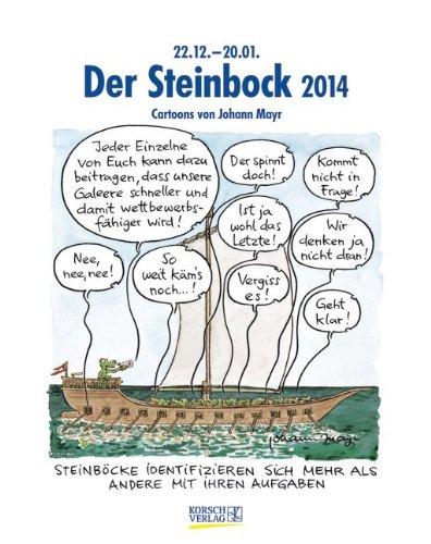 Der Steinbock 2014: Sternzeichen-Cartoonkalender