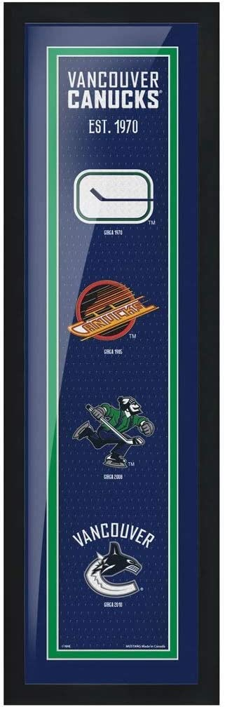 Vancouver Canucks 6 x 22 Tradition Framed Sign