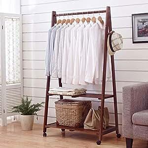 Amazon.com: HUIQI Coat Rack Leqi Solid Wood Coat Rack ...