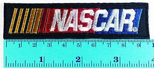 Nascar Racing Race Game Cars Black Logo Jacket T- Shirt DIY Iron on Sew on Patch Embroidered Racing Logo Patch Sew Iron on Jacket Cap Vest Badge - T-shirt Nascar Embroidered