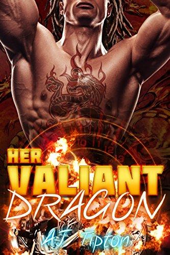 Her Valiant Dragon: A BBW Interracial Paranormal Romance (Her Biker Dragon Book 1) by [Tipton, AJ]