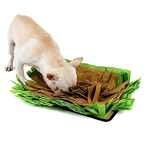 Alfie Pet – Azariah Anti-Slip Snuffle Feeding Mat for Dogs – Color : Green