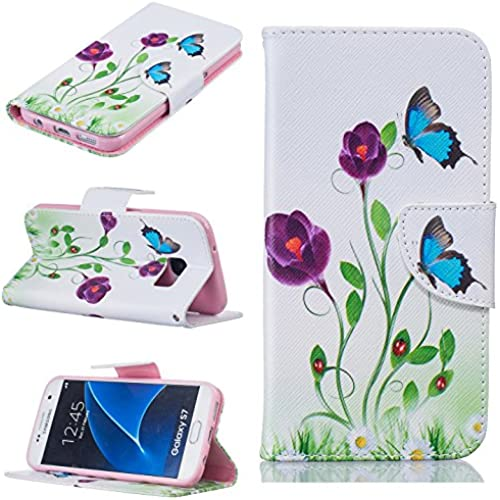 Galaxy S7 Edge Case,[Kickstand] Pattern PU Leather Wallet [Card/Cash Slots] Flip Cover For Samsung GALAXY S7 Edge G9350 G935 G935F G935A G935FD  Sales