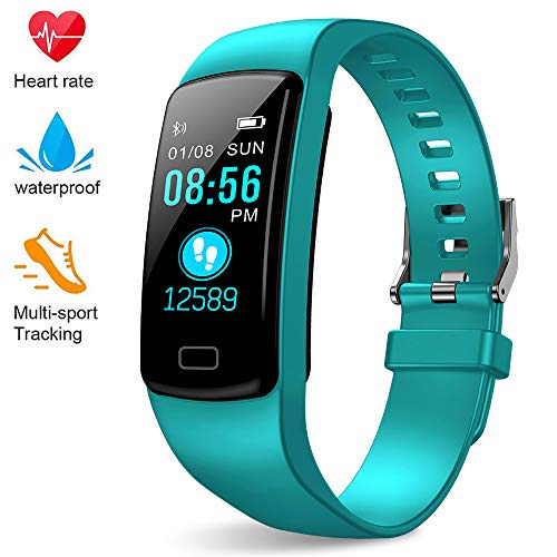 EpochAir Fitness Tracker,Colorful Screen Activity Tracker with Heart Rate Monitor, Waterproof Pedometer Watch with Sleep Monitor, Step Counter for Kids Women Men Gifts