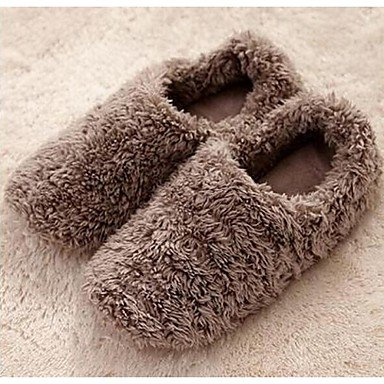 Sandalias de verano zapatos de hombre casual Zapatillas de lana marrón / rosa / gris Rosa