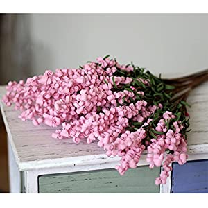 GKANGU 430MM Lavender Bouquet PE Artificial Flowers Lifelike Flower Ideal For Home Garden Living Room Office Wedding Decorations [8 Bundles] 1