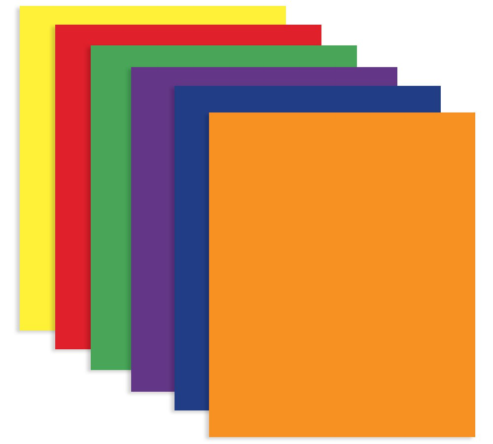 Bazic 3144-100 BAZIC 2-Pocket Portfolio Folder for School, Home, or Office (Assorted Colors. Case of 100) by BAZIC