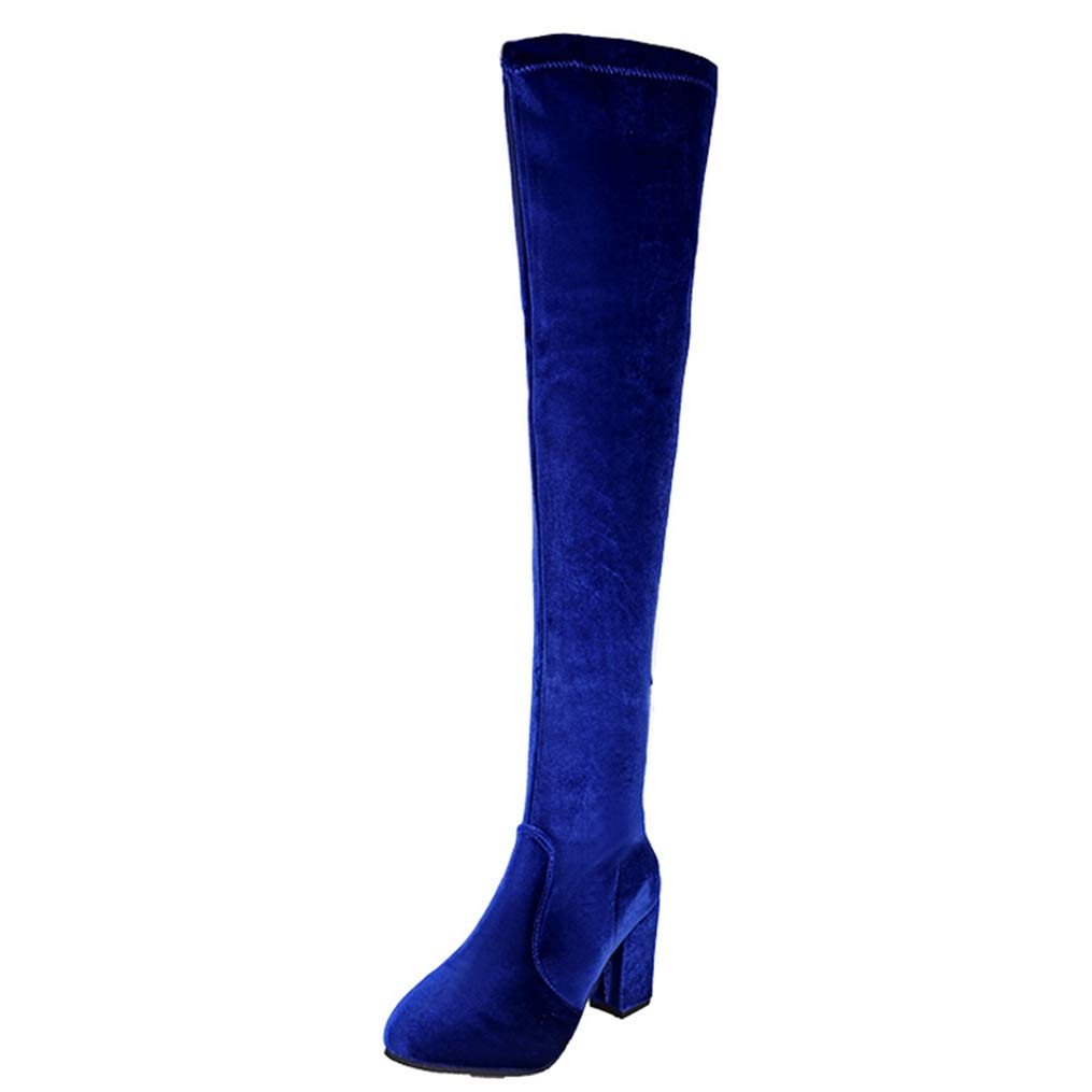 Hoxekle Autumn Woman High Heel Boots Woman Boots Over The Knee Platform Velvet Rubber Boots Round Toe Shoes Lady Winter Boot