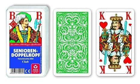 Juego de cartas ancianos doble cabezal de francés extra ...