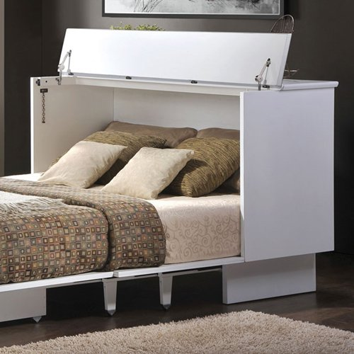 (Cottage White Queen Cabinet Bed by Creden-ZzZ)