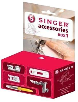 Singer 292117 Box 1 - Caja de accesorios para máquina de coser (pies prensatelas): Amazon.es: Hogar