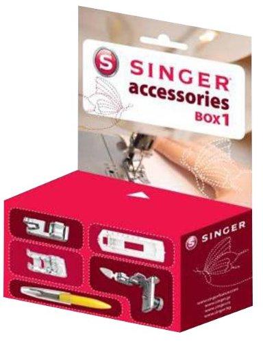 Singer 292117 Box 1 - Caja de accesorios para máquina de coser (pies prensatelas)