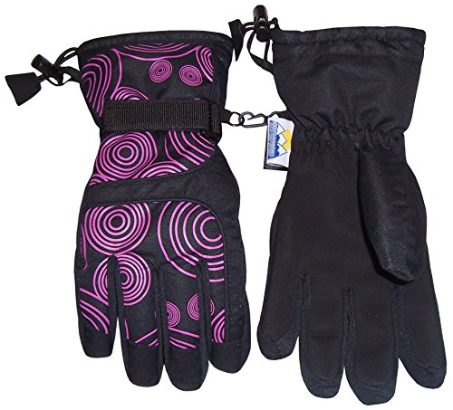 NIce-Caps-Kids-Scroll-Print-Waterproof-Thinsulate-Insulated-Winter-Snow-Gloves