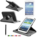 360 Degree Rotating Cover Case for Samsung Galaxy Tab 3 7.0 SM-T210 / SM-T217 With Screen Protector and Stylus Galaxy tab 3 7 case From Sheath TM [ Does not Fit Galaxy Tab 3 Lite SM-T110 ] (Black)