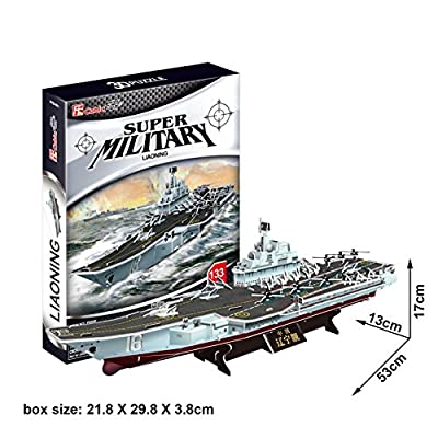 3D Puzzle Game Aircraft Carrier Excellent Display Model for Home or Office teen adults students birthday gift 133 pieces Environment Friendly Cardboard construction Building assembling toy