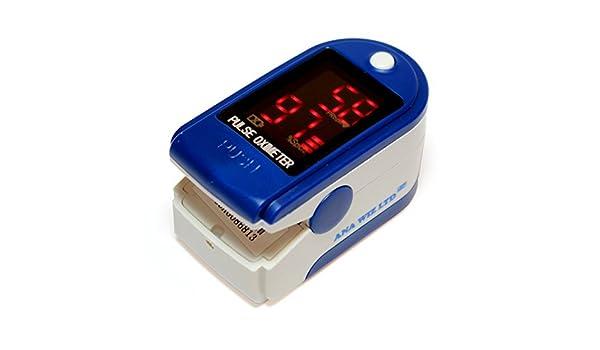 Oxímetro de pulso con pantalla LED (Incluye Carrycase, pilas y cinta): Amazon.es: Salud y cuidado personal